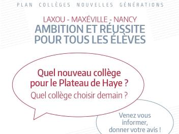 Des ateliers pour s'exprimer sur le futur collège du Plateau de Haye