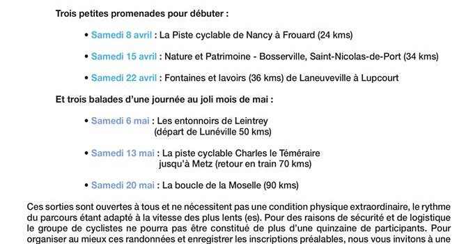 Escapade Cyclo-Lentement
